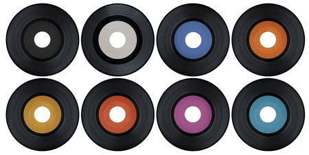jukebox: Blank set of vinyl records
