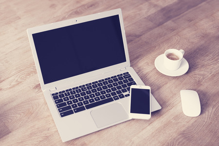 Laptop mockup - template