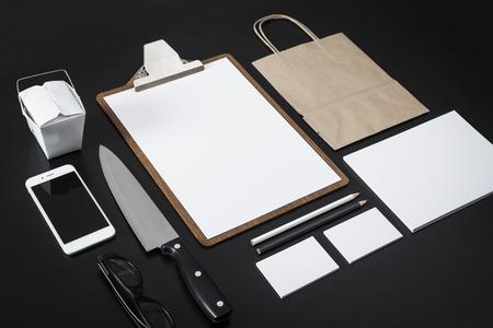 레스토랑 레터 디자인 모형