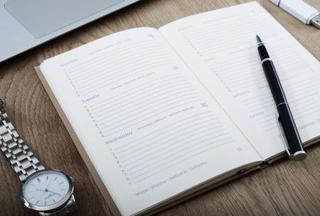 Sparen de datum - agenda mockup