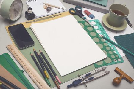 創造的なスケッチ本モックアップ 写真素材