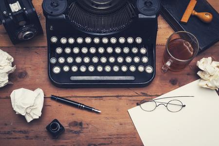 Retro schrijfmachine mockup Stockfoto