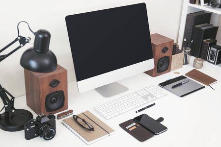 Modern home office webdesign mockup