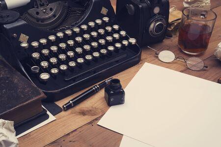 retro typewriter office desk