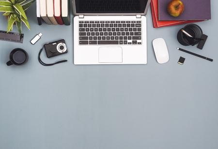 Top view office header 版權商用圖片