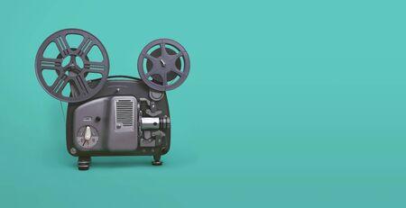Retro vintage 8mm movie projector 版權商用圖片