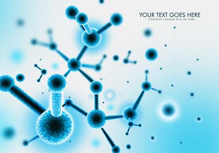 organische eiwitmoleculen formaties en structuren Stockfoto