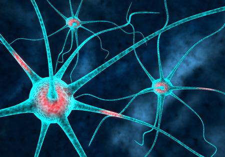 3d neurones connectés Banque d'images - 35362407