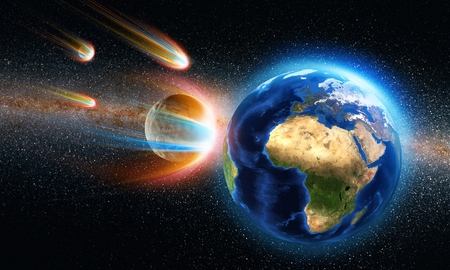 asteroid: asteroid aproaching the earth