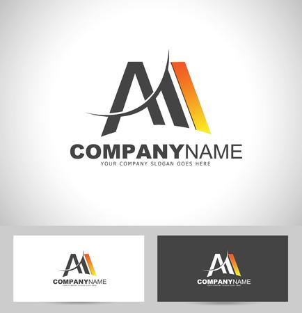 創造的な手紙 M デザイン。文字 M とビジネス カードのテンプレート。