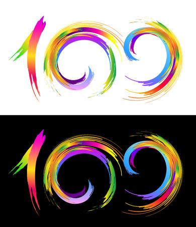 hundred: One Hundred Illustration. One Hundred Graphic Elements Design