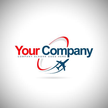 Plane  Design. Creative vector icon with plane and ellipse shape. Illustration