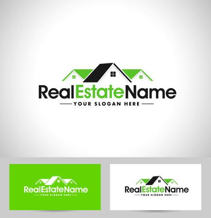 case moderne: Real Estate design. House Design. Creativo Real Estate icone vettoriali Vettoriali