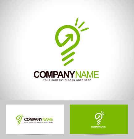 Smart Concept Vector. Lightbulb Icon Design and business card template