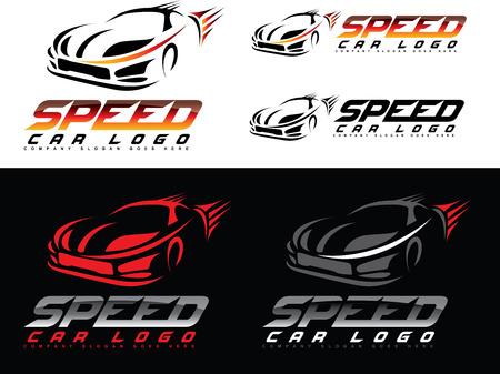 silhouette voiture: Speed ??Car Design. Creative Sport voiture icône vecteur. conception de forme de voiture Illustration