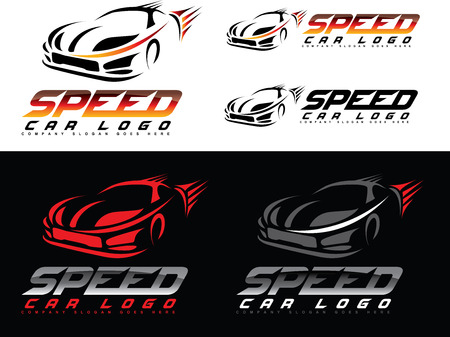 Speed Car Design. Creative Sport Car Icon Vector. Car shape design Illustration