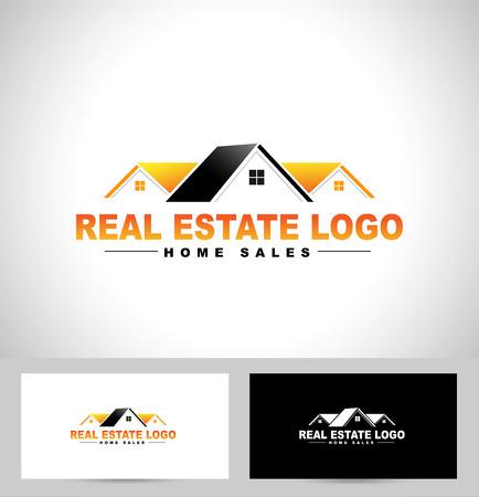 不動産のロゴデザイン。家ロゴ設計。ベクトルのアイコンを創造的な不動産  イラスト・ベクター素材