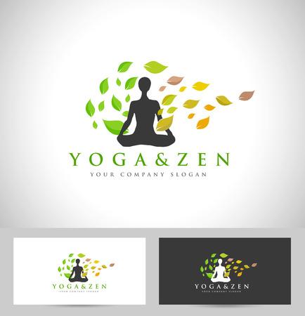 Yoga Conception. Creative Icon Yoga avec Yoga Position Banque d'images - 36990577