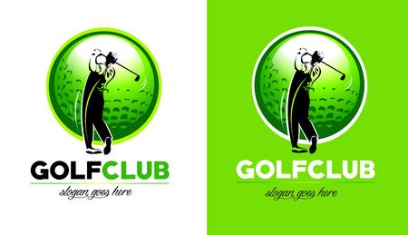 Golf Design. Golf Club Icon With golfer hitting the ball. Vector