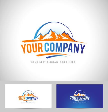 Icoon Mountain Illustratie Vector Stock Illustratie