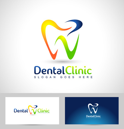 Dental Logo Design. Dentist Logo. Dental Clinic Creative Company Vector Logo. Illusztráció