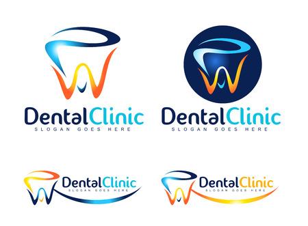 Dental Logo Design. Dentist Logo. Dental Clinic Creative Company Vector Logo. Illustration