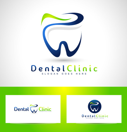 dentist: Diseño Logo Dental. Logo dentista. Logo Dental Clinic Creative Company vectorial.