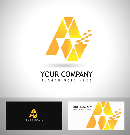 design concept: A Letter Logo Design. Vector logo with letter e creative concept.