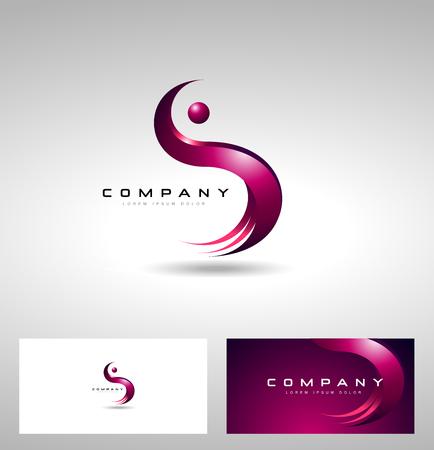 S Lettera Design. con il concetto creativo lettera S. Vettoriali