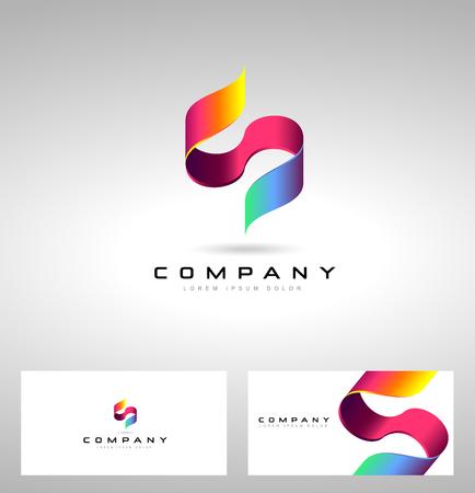 S Lettera Design. con il concetto creativo lettera S.