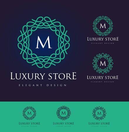 luxo: Carta de luxo. design floral simples e elegante, lineart elegante design vector de luxo
