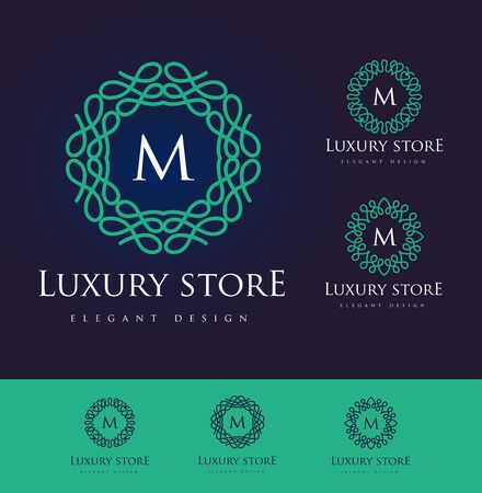 Luxury Letter. Simple and elegant floral design, Elegant lineart luxury vector design
