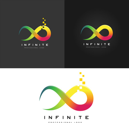 eternally: Infinity symbol . Limitless icon. Creative abstract infinite .