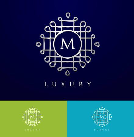 Luxury Letter . Simple and elegant floral oriental design , Elegant luxury design