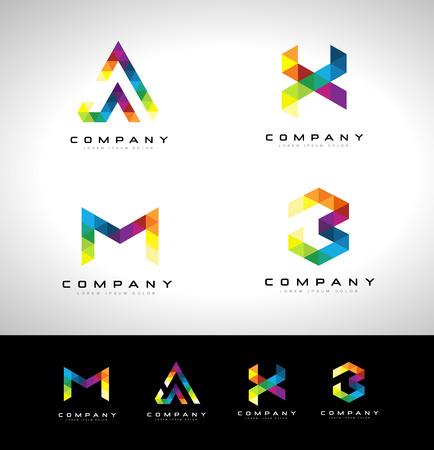 company person: Triangle Letter Design.triangle letter  creative concept. Illustration