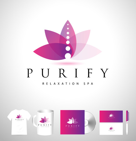 Creative Spa Yoga Logo. Spa Vector Design. Spa Lotus Logo Illustration