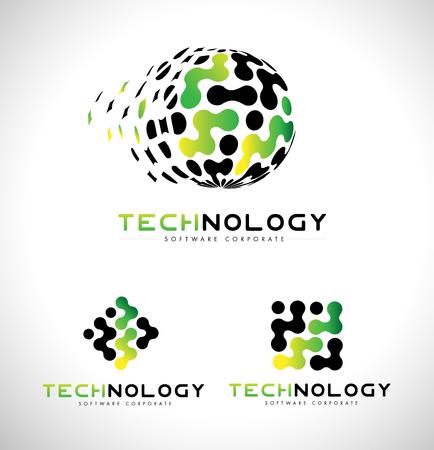 Logotipo de la tecnología. Insignia de la tecnología del vector del icono. Tecnología de la identidad corporativa.