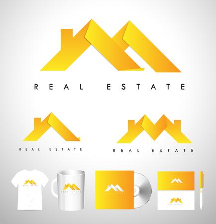 house logo: Real Estate House Logo. Real Estate Icon. Vector House Estate Logo