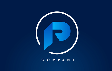 Letter P Logo. P Letter Design Vector with Golden Colors and Bubbles.