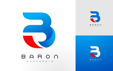 Logo B bleu .B Lettre icône Design Vector Illustration.