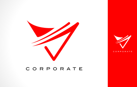 V Logo Monogram. Letter V Simple Clean Line Monogram Design.