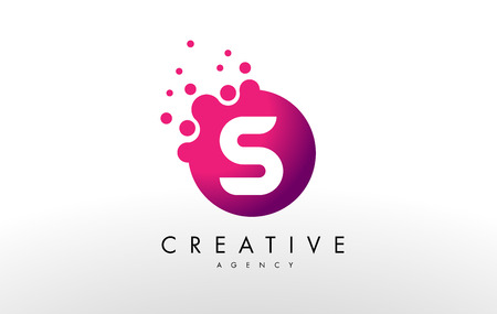 Dots Letter S Logo. S Letter Design Vector with Dots.