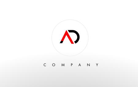 A D Logo. AD Letter Design Vector with Orange Color.