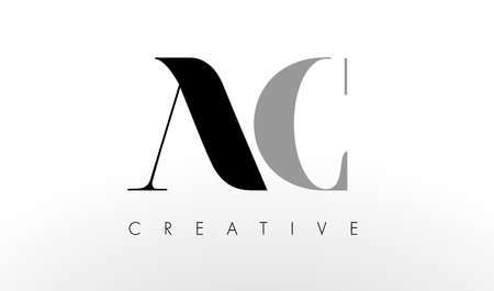 ac: A C Letter  Design. Creative Modern AC Letters Icon Illustration.