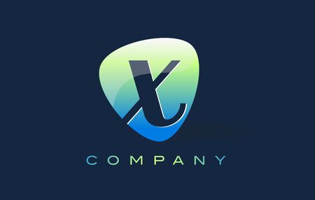 oval shape: x Letter Logo. Oval Shape Modern Design with Glossy Look.