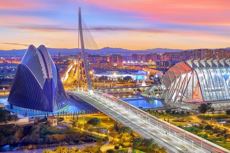 Luchtfoto van Valencia. Moderne stad van kunst en wetenschappen Stockfoto