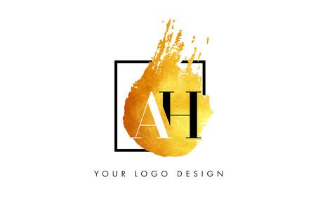 AH Gold Letter Brush Logo