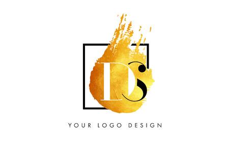 d offer: DS Gold Letter Brush Logo.