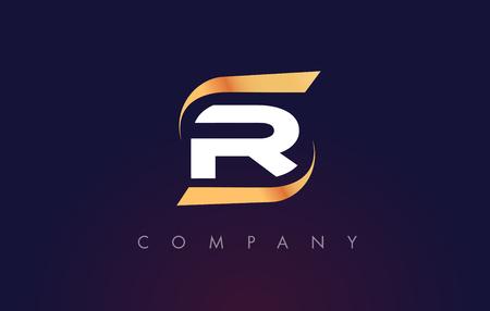 R Letter Logo Design. Modern Letter Template Vector Illustration. Illustration