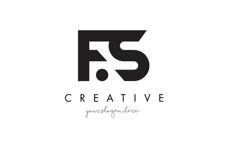 FS Letter Logo Design with Creative Modern Trendy Typography and Black Colors.
